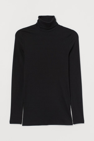 Polo-neck top Muscle Fit