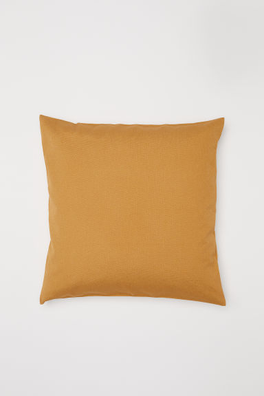 Cotton canvas cushion cover - Mustard yellow - Home All | H&M CN