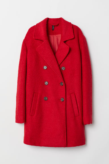 Double-breasted coat - Red -  | H&M GB