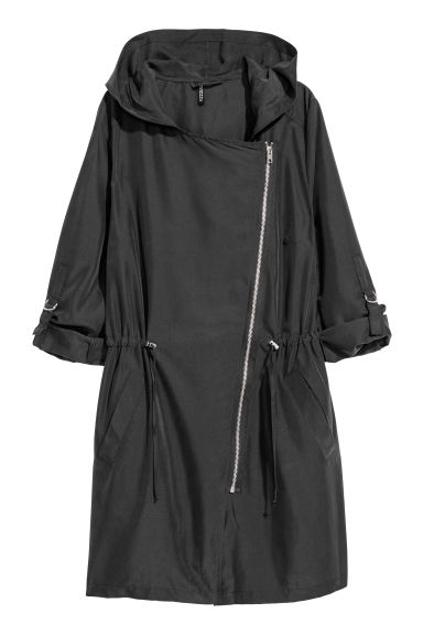 Modal-blend parka - Black - Ladies | H&M