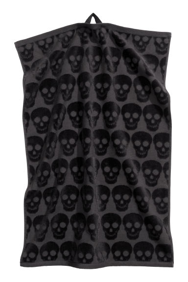 Towel - Black/Skulls -  | H&M GB