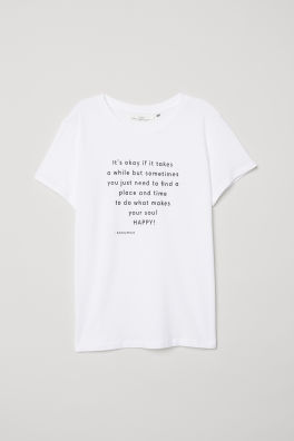 118506727a526 Reversible-sequin T-shirt - Light gray melange NASA - Ladies   H M US