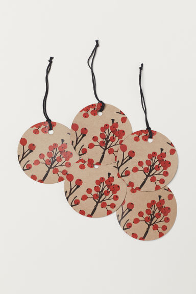 Gift tag - Beige/Rowanberry - Home All | H&M CN