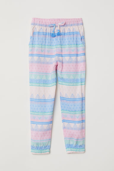 Pantaloni pull-on fantasia - Rosa/fantasia -  | H&M IT