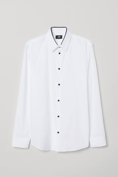 Camicia Slim fit - Bianco - UOMO | H&M IT
