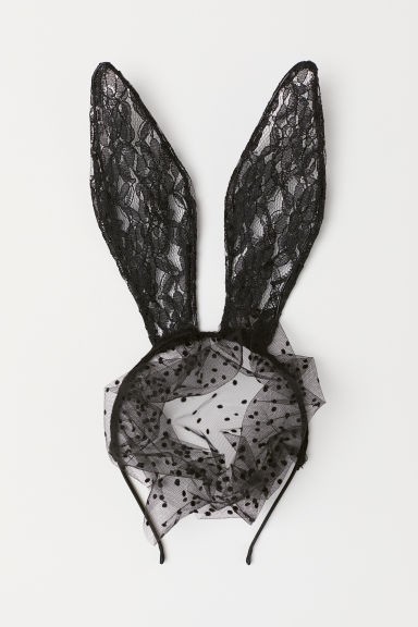 Alice band with rabbit ears - Black - Ladies | H&M CN