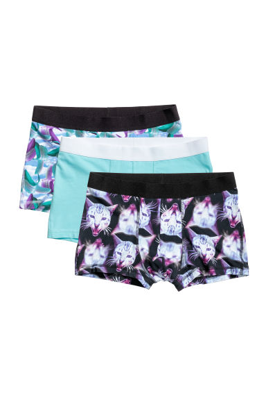 3-pack trunks - Turquoise/Patterned -  | H&M