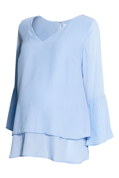 MAMA Chiffon blouse - Light blue - Ladies | H&M CN