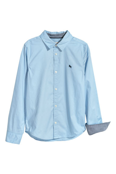 Cotton shirt - Light blue -  | H&M