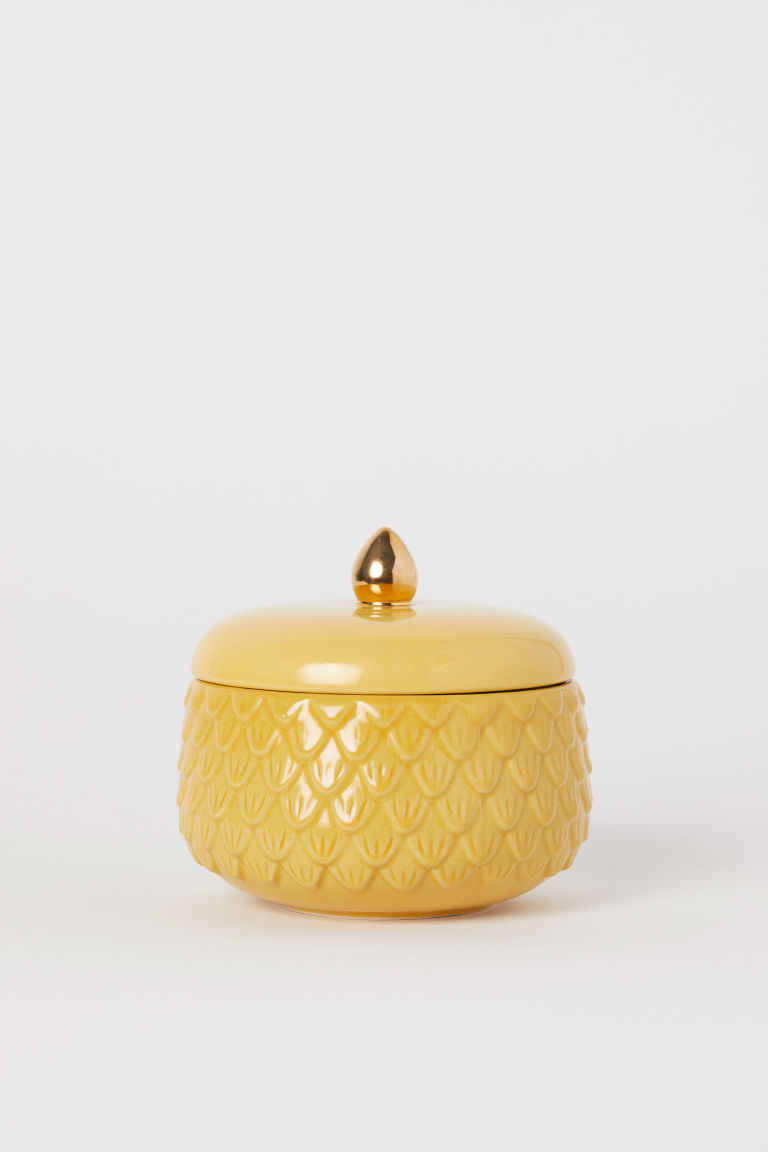 Bote con relieve - Amarillo mostaza - HOME | H&M ES