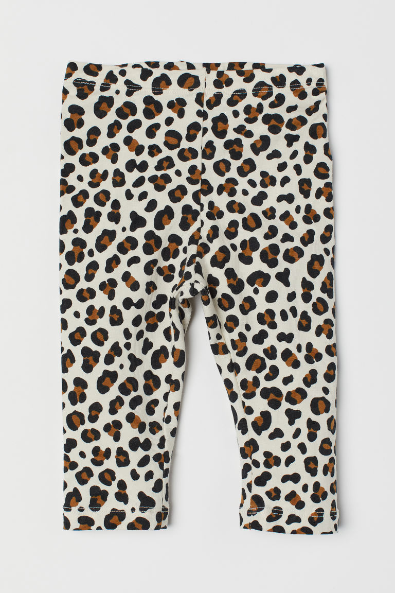 Leopard-print leggings - Light beige/Leopard print - Kids | H&M CN