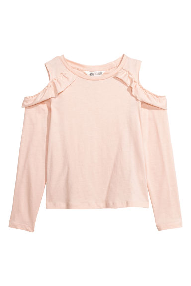 Cold shoulder top - Powder pink - Kids | H&M CN