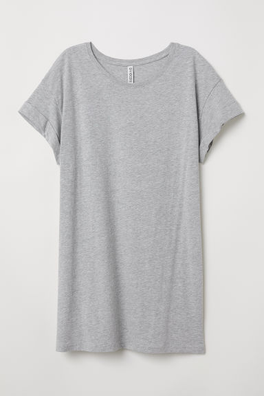 Long T-shirt - Gray melange - Ladies | H&M US