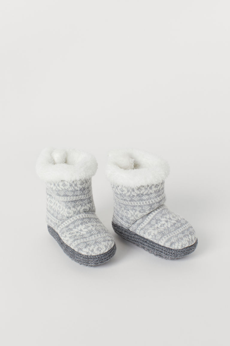 Pantofole foderate - Grey/Patterned - BAMBINO | H&M IT