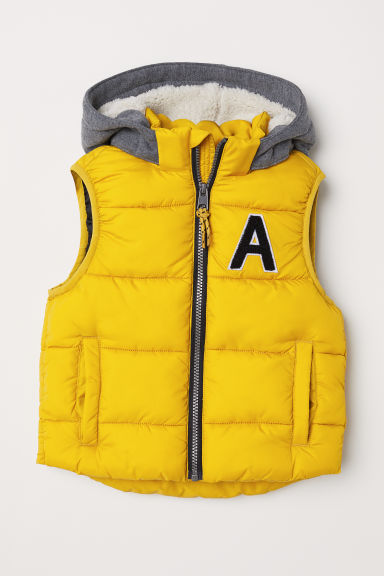 Padded gilet - Yellow - Kids | H&M CN