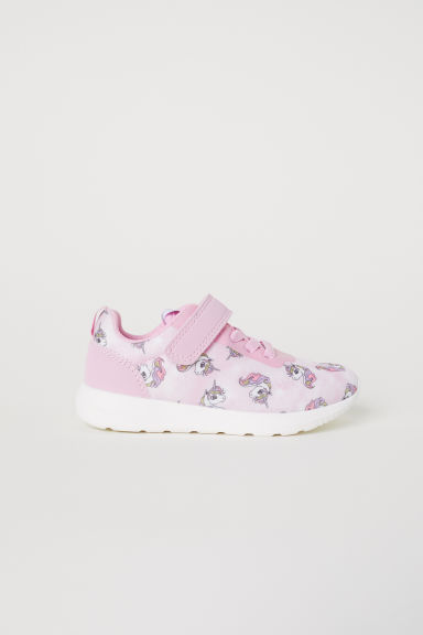 Printed trainers - Light pink/Unicorns - Kids | H&M CN