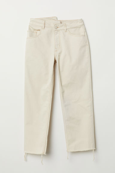 Straight High Jeans - Light beige - Ladies | H&M CN