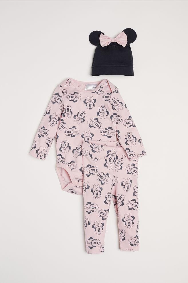 ba6cb99fa 3-piece jersey set - Light pink/Minnie Mouse - Kids   H&M GB