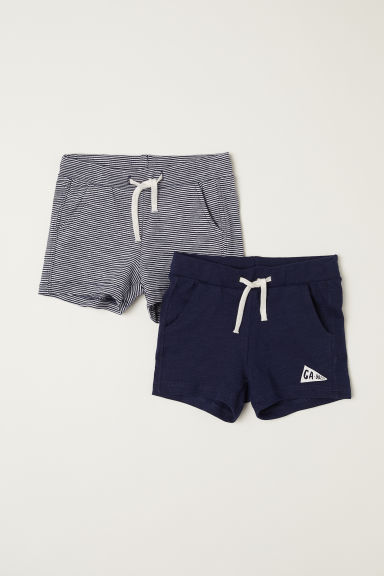 2-pack jersey shorts - Dark blue -  | H&M CN