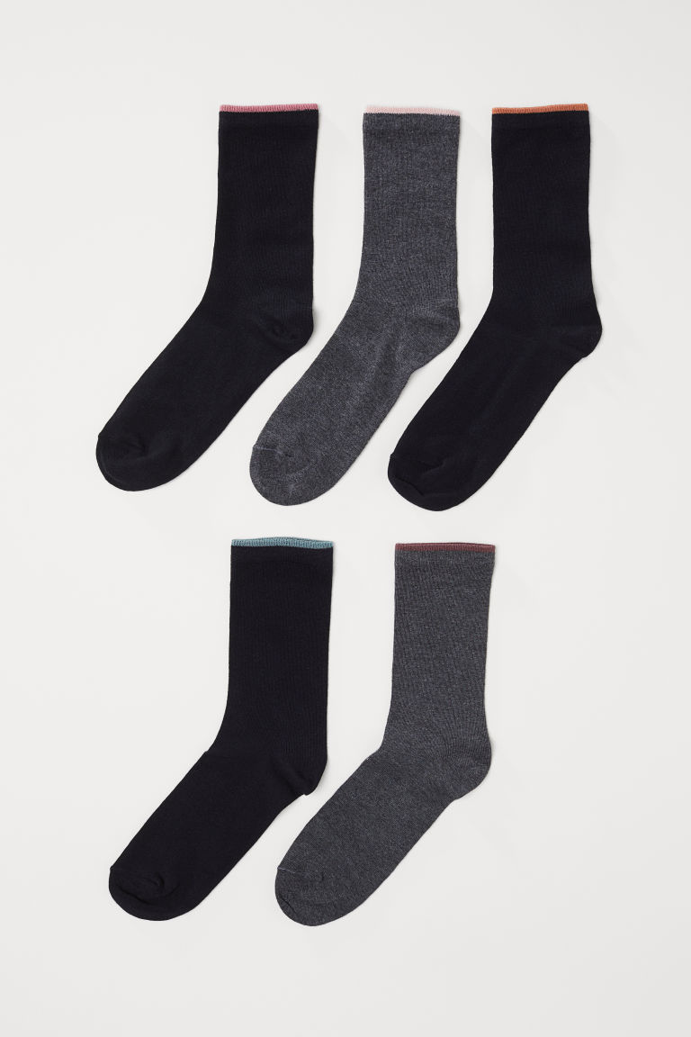 5-pack socks - Multicoloured - Ladies | H&M CN