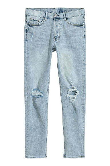 Slim Jeans - Light blue/Trashed - Men | H&M