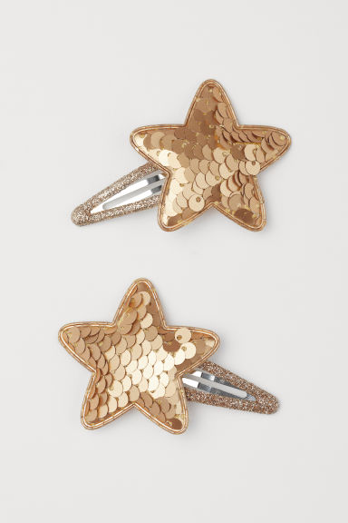 2-pack hair clips - Gold-coloured - Kids | H&M CN