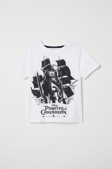 Printed T-shirt - White/Jack Sparrow -  | H&M