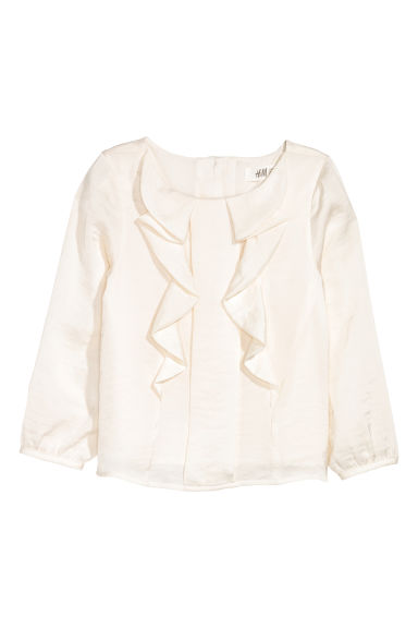 Satin blouse - White - Kids | H&M CN