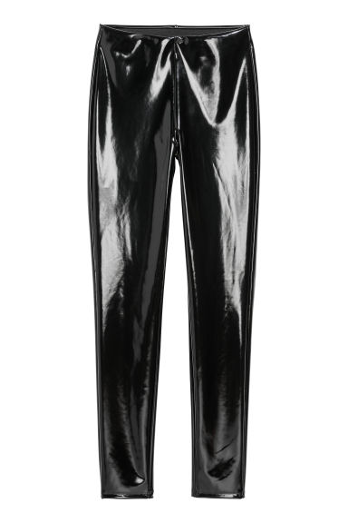 Vinyl leggings - Black - Ladies | H&M CN