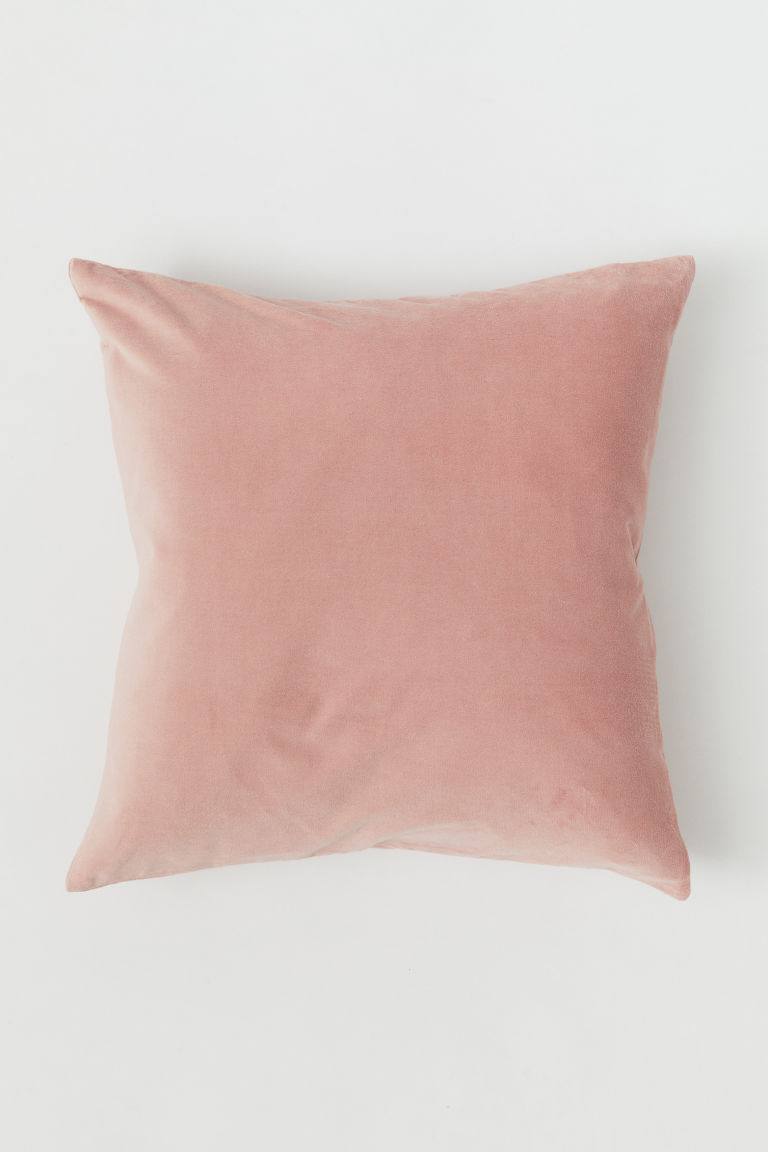Copricuscino in velluto - Rosa nebbia - HOME | H&M IT