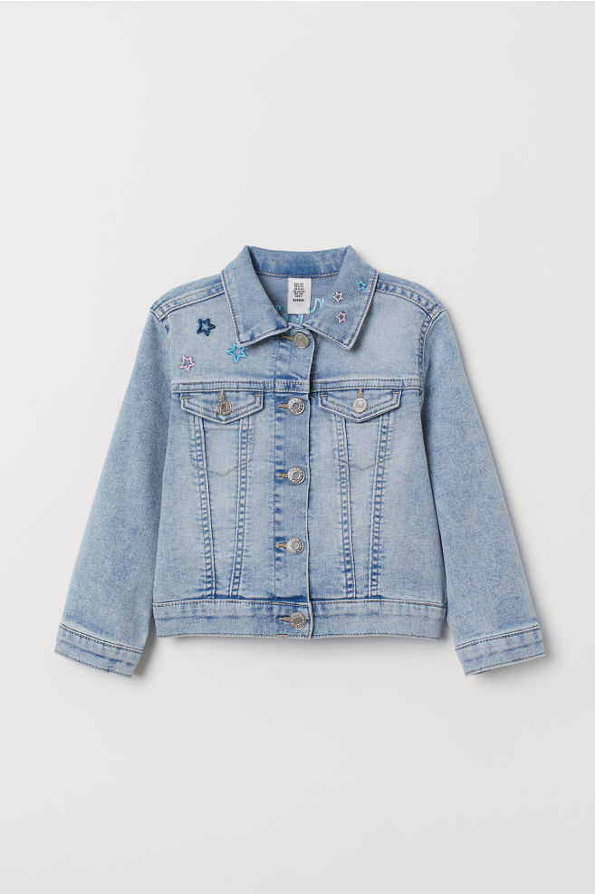 a492ac4f13 ... Denim jacket with appliqués - Light denim blue Unicorn - Kids