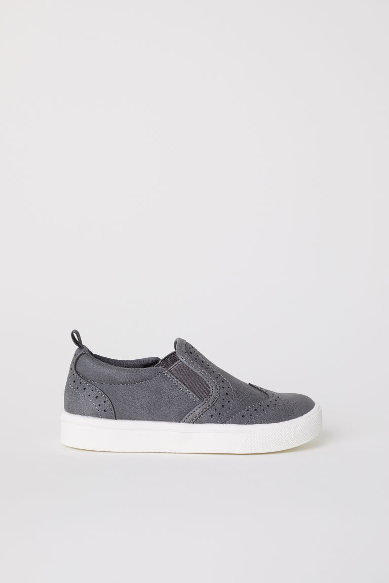 Brogue trainers - Dark grey - Kids | H&M