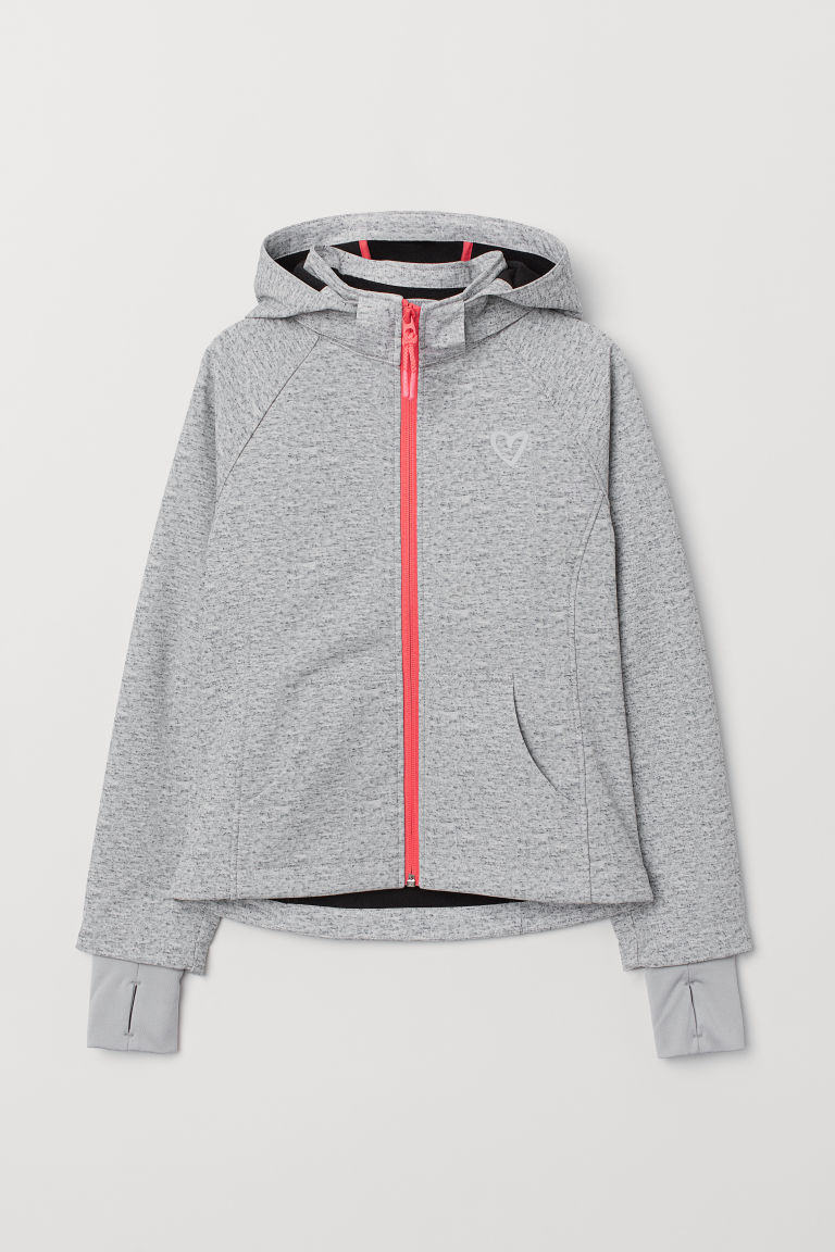 Veste softshell - Gris chiné/rose - ENFANT | H&M FR
