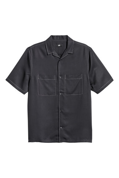 Short-sleeved resort shirt - Dark blue - Men | H&M