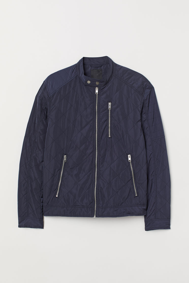 Quilted jacket - Dark blue - Men | H&M CN