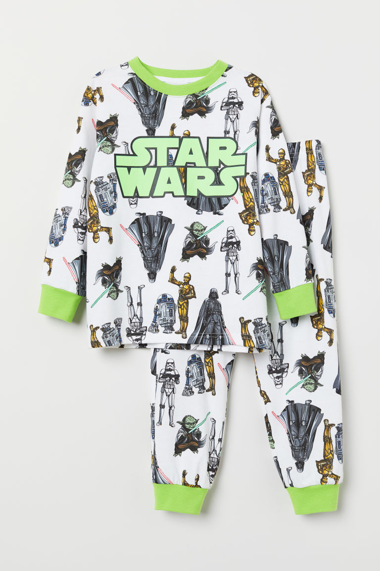 Jersey pyjamas - White/Star Wars - Kids | H&M CN