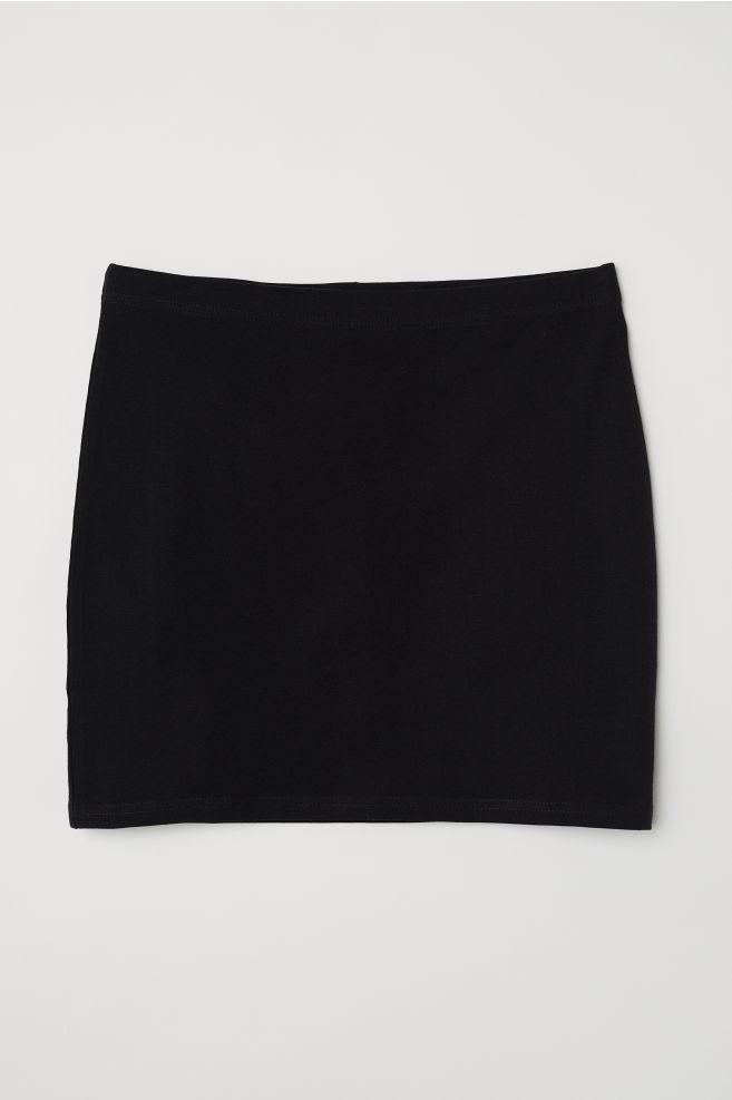 ... Falda de punto - Negro - MUJER  321249747fcc