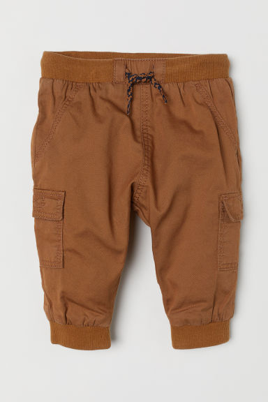 Lined pull-on trousers - Dark beige - Kids | H&M