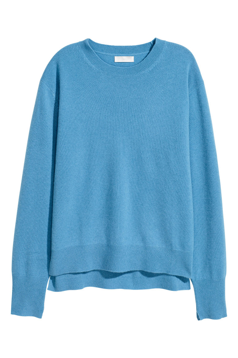 Cashmere jumper - Light blue - Ladies | H&M CN