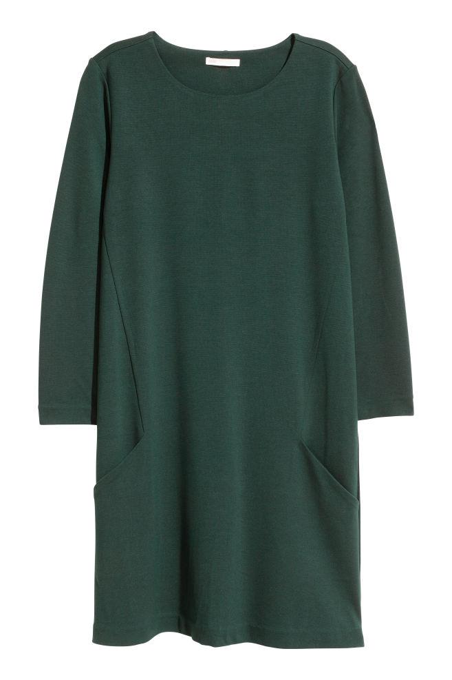 83e39dfc05e2 Jersey dress - Dark green - Ladies | H&M ...