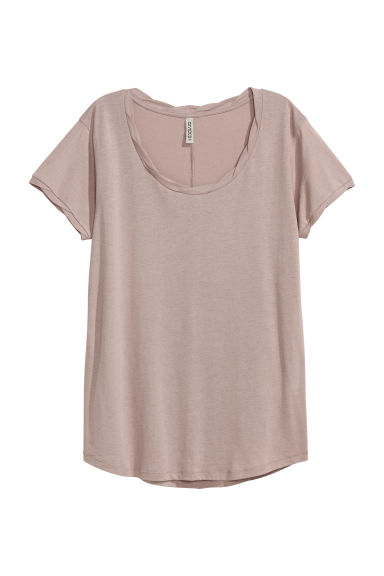 T-shirt - Taupe -  | H&M FR