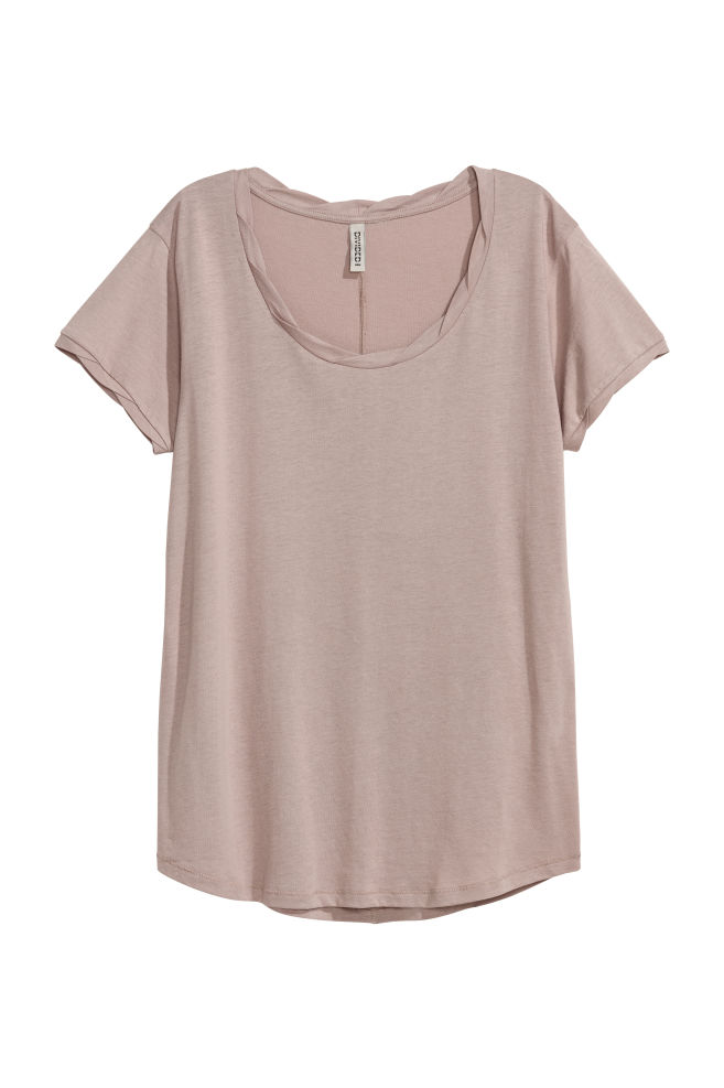 da6ac03d482976 T-Shirt - Taupe - | H&M ...