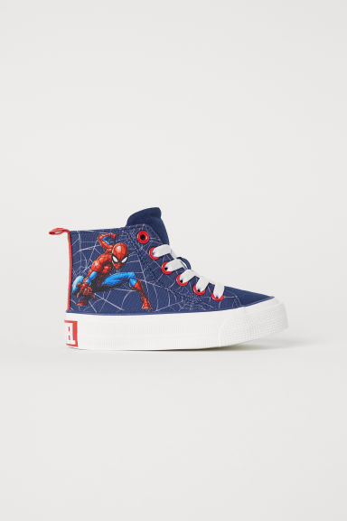 Hi-tops - Dark blue/Spider-Man - Kids | H&M