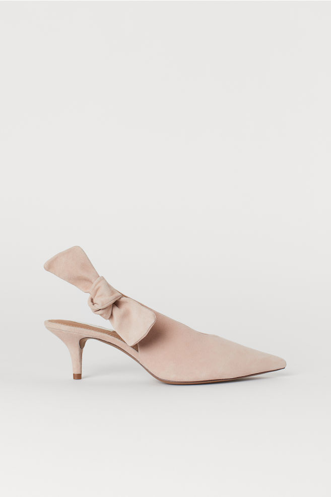 d1872e1da2 Suede slingbacks - Powder pink - Ladies | H&M ...