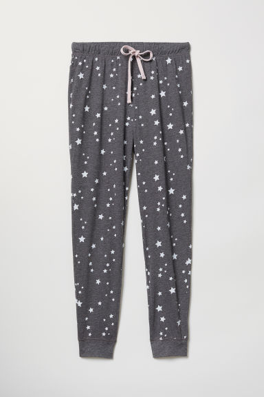 Pyjama bottoms - Dark grey/Stars - Ladies | H&M