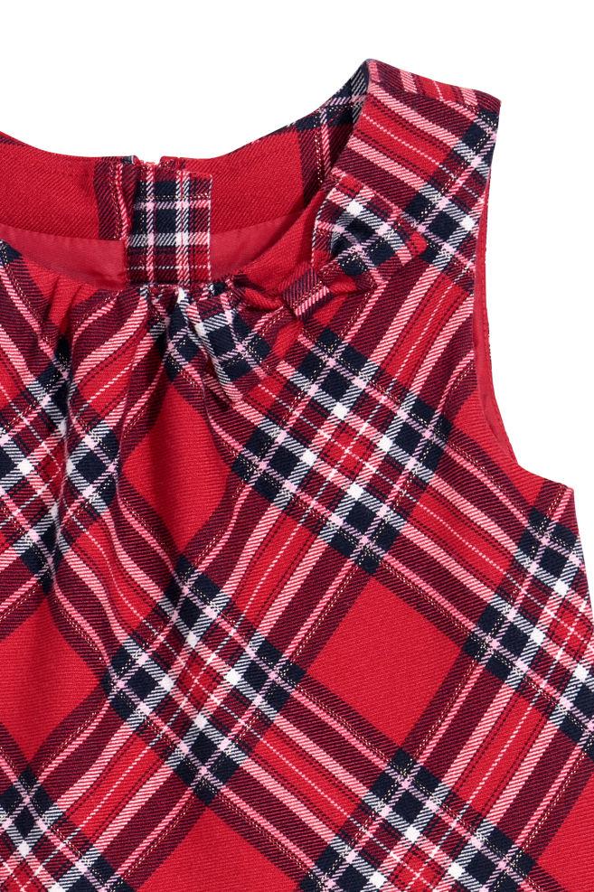 c7903ab2db15 Flanelové šaty s mašličkou - červená károvaná - DETI