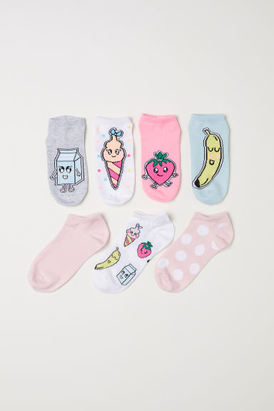 7-pack trainer socks - White/Fruit - Kids | H&M CN