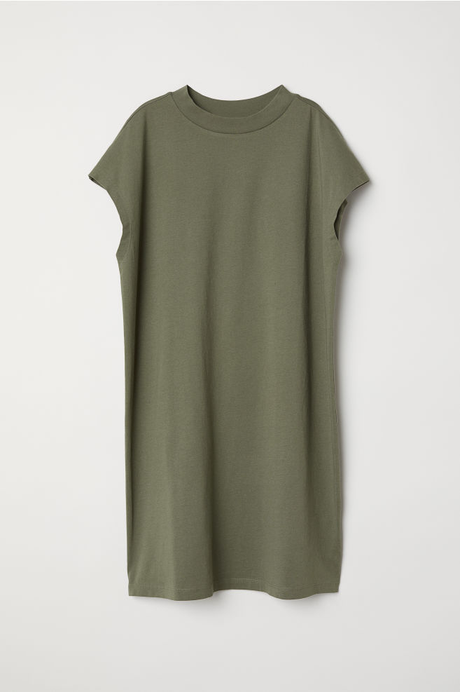 351b39d520c8 Jersey dress - Khaki green - Ladies | H&M ...