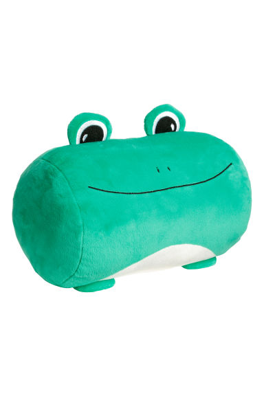 Soft toy cushion - Green/Frog -  | H&M GB