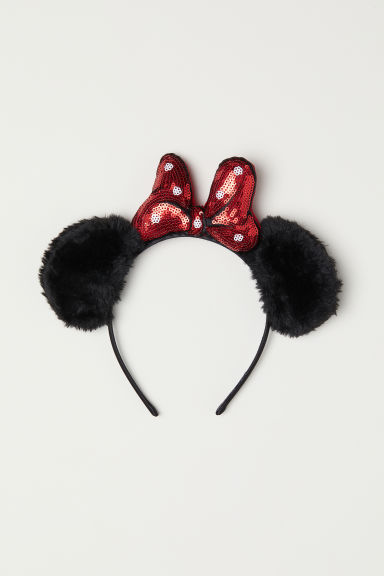 Alice band with ears - Black/Minnie Mouse - Kids | H&M